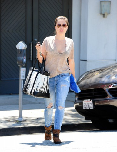 Sophia Bush carries a Coach x Krink tote in Beverly Hills (2)