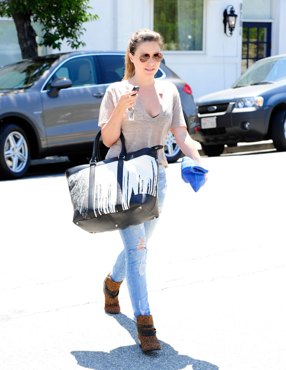 Sophia Bush carries a Coach x Krink tote in Beverly Hills (3)