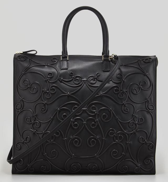 Valentino Intricate Soutache Bag Black