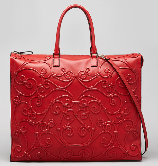 Valentino Intricate Soutache Bag Red