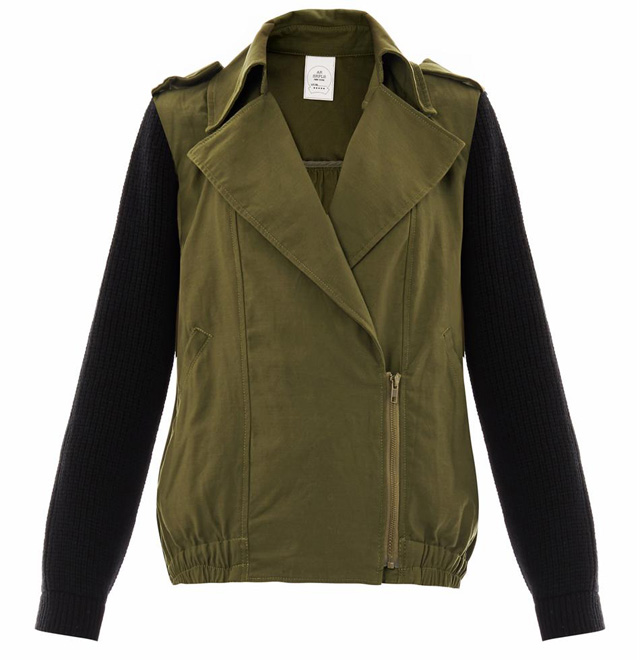 AR SRPLS Knit Sleeve Military Jacket