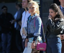 AnnaSophia Robb Carries a Diane von Furstenberg Bag on Set