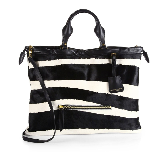Burberry Big Crush Animal Print Bag