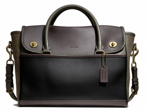 Coach Legacy Utility Flap Commuter Bag Black