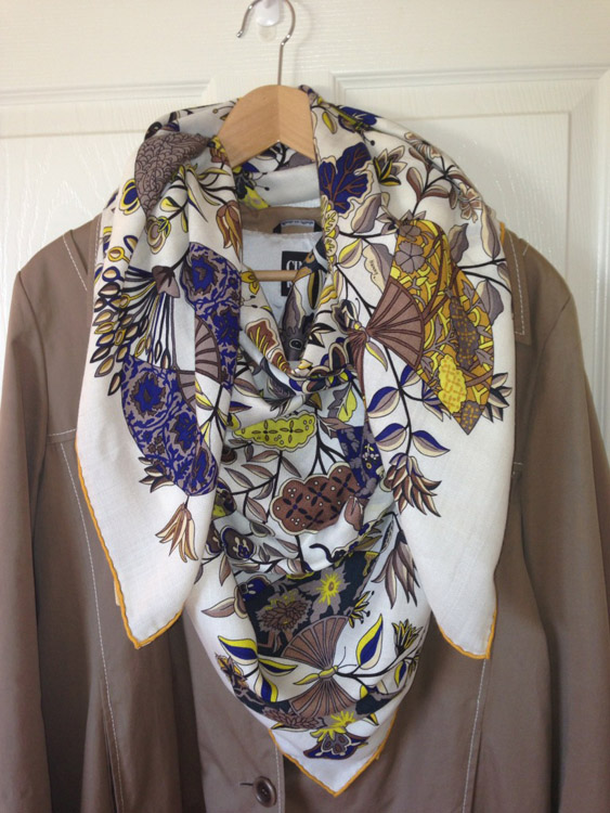 Coat and Hermes Shawl