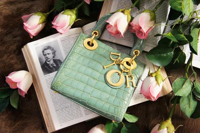 Dior Lady Dior Crocodile Bag