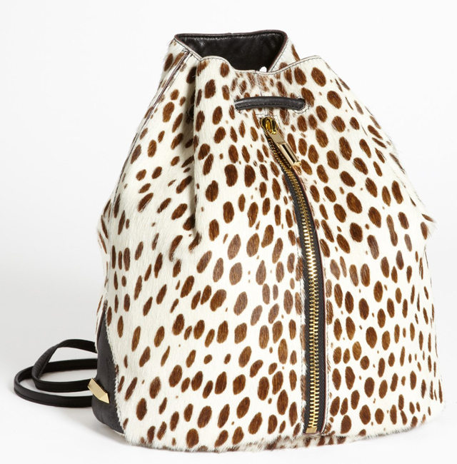 Elizabeth and James Spotted Calf Hair Sling Bag