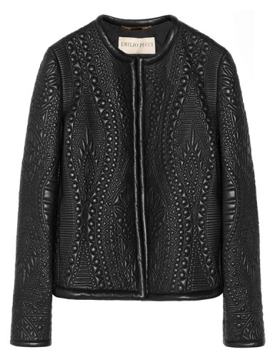 Emilio Pucci Quilted Leather Jacket