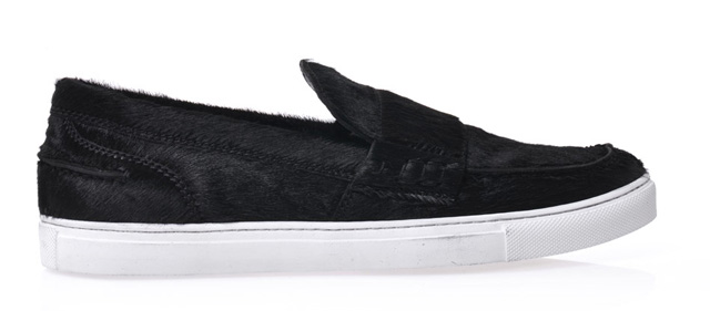 Giambattista Valli Calf Hair Slide Sneakers