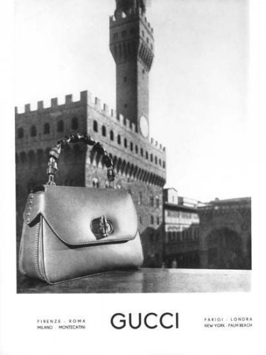 Gucci Bamboo Handbag Advertisement, 1960s