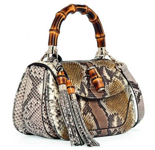 Gucci Python New Bamboo Bag Side