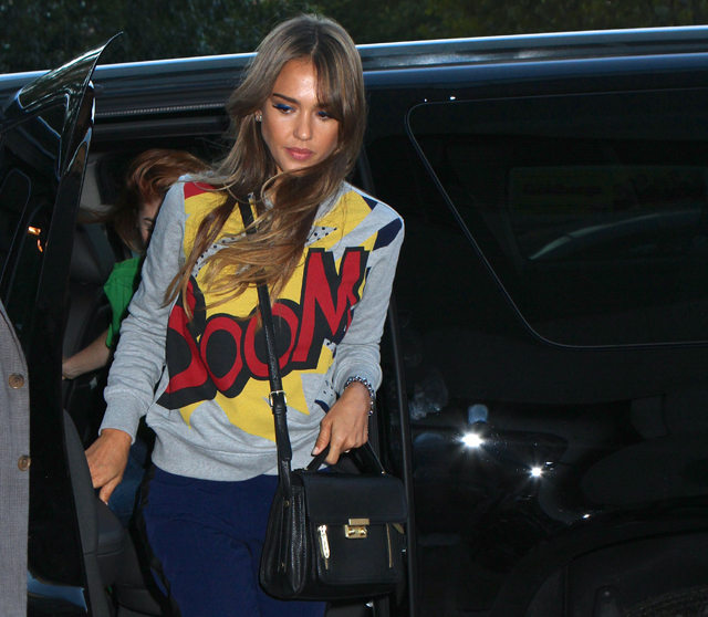 Jessica Alba carries a 3.1 Phillip Lim for Target Satchel in NYC (5)