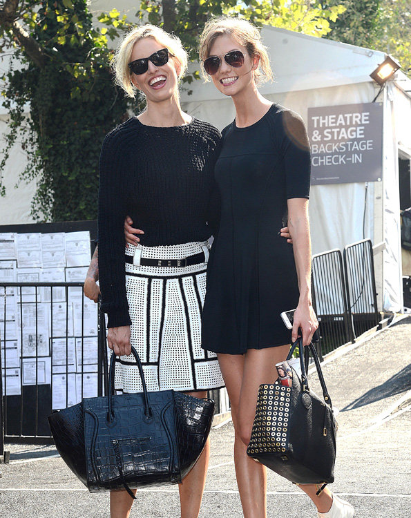 Karlie Kloss and Karolina Kurkova Arrive to Michael Kors NYFW