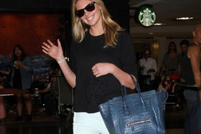 Check Out Kate Upton's Stunning Celine Crocodile Luggage Tote