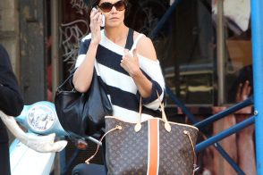 Katie Holmes Carries Louis Vuitton Around NYC