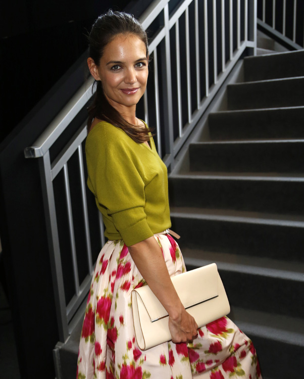 Katie Holmes seen at the Fashion Week tents in NYC