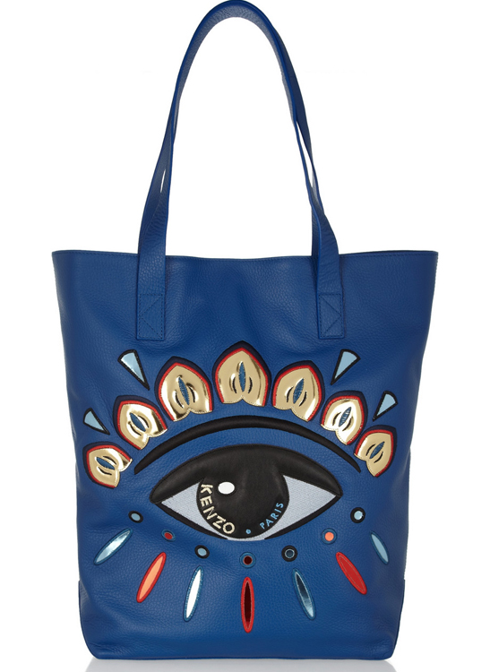 Kenzo Eye Embellished Leather Tote
