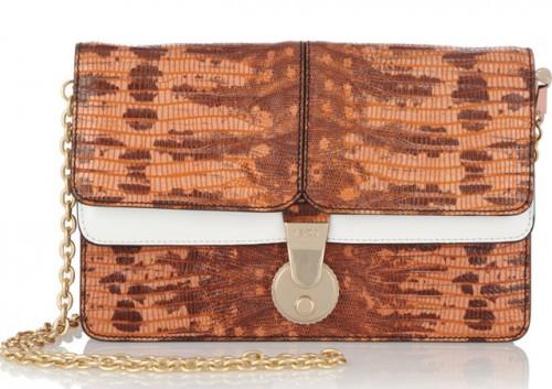 Kenzo Lizard-Effect Leather Shoulder Bag