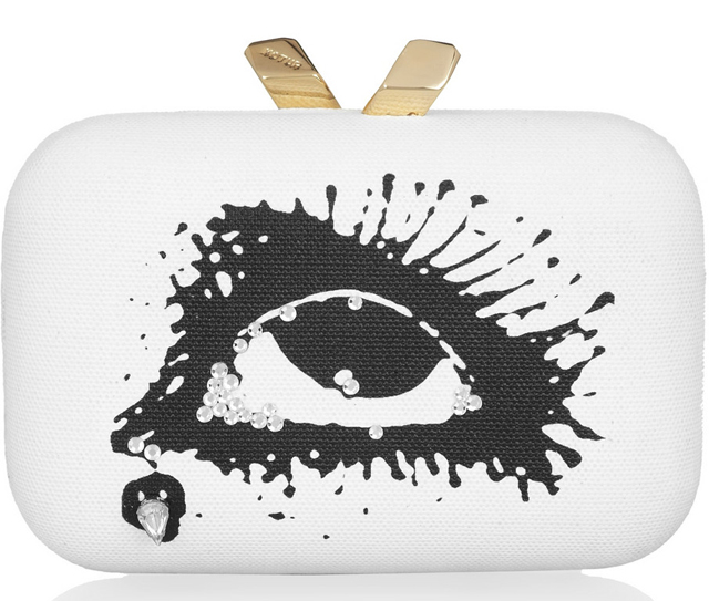 Kotur Margo Surrealist Printed Clutch