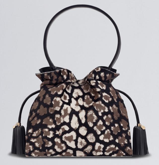 Loewe Flamenco Leopard Bag