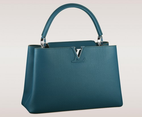 Louis Vuitton Capucines Bag Blue