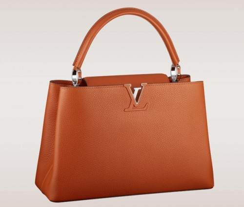 Louis Vuitton Capucines Bag Orange
