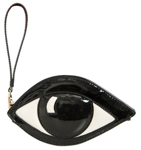 Lulu Guinness Patent Eye Coin Purse