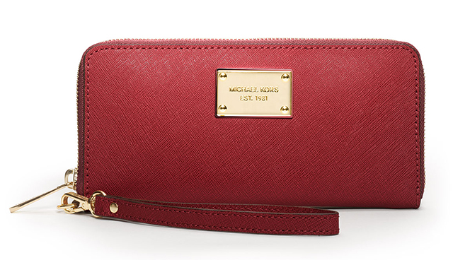 MICHAEL Michael Kors Saffiano iPhone 5 Continental Wallet