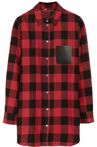 Maje Degriffe Oversized Plaid Shirt