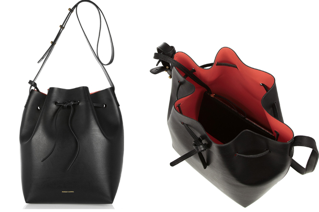 Mansur Gavriel Leather Bucket Bag 1