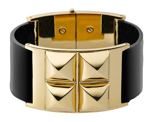 Michael Kors Leather Pyramid Bracelet