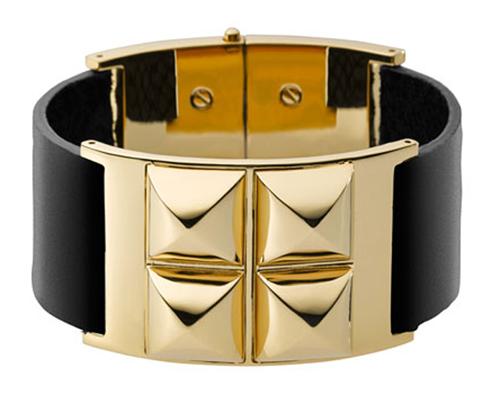 Michael Kors Leather Pyramid Bracelet