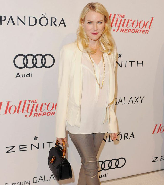 Naomi Watts with a Gucci Bamboo Bag