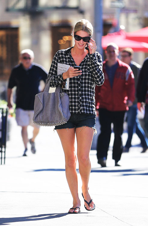 Nicky Hilton carries a grey Alexander Wang bag in NYC (1)