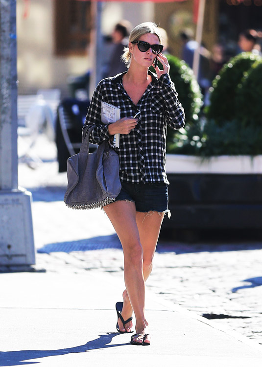 Nicky Hilton carries a grey Alexander Wang bag in NYC (2)