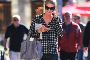 Nicky Hilton carries a grey Alexander Wang bag in NYC (5)