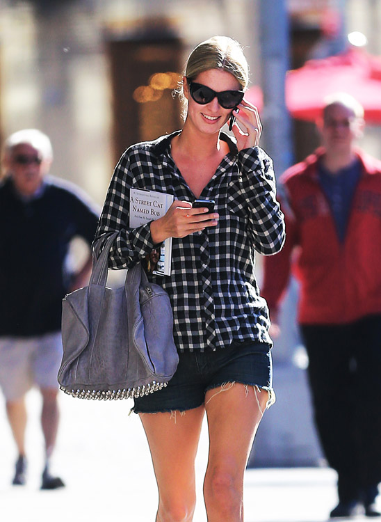Nicky Hilton carries a grey Alexander Wang bag in NYC (4)