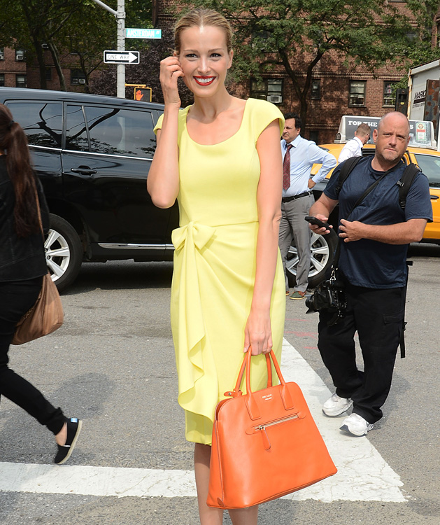 Petra Nemcova arrives at the Lincoln Center for NYFW
