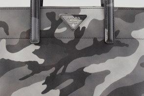 Prada Camouflage Soft Saffiano Tote
