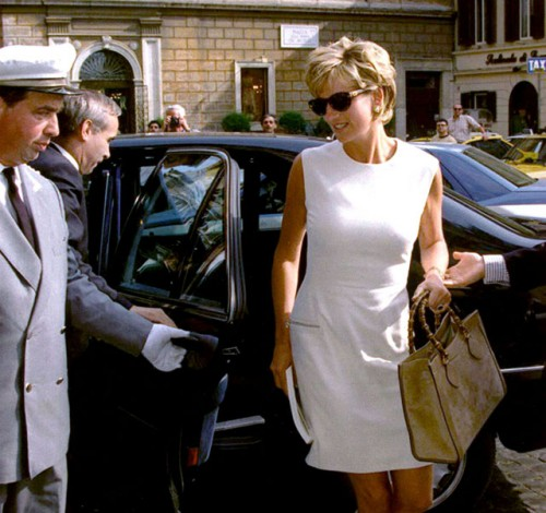 Princess Diana with a Gucci Bamboo Bag