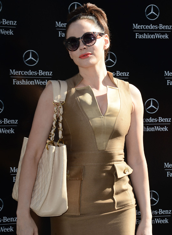 Celebrity arrivals at New York Fashion Week Day 5