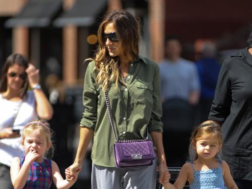 Sarah Jessica Parker Strolls the West Village with a Chanel Boy Bag