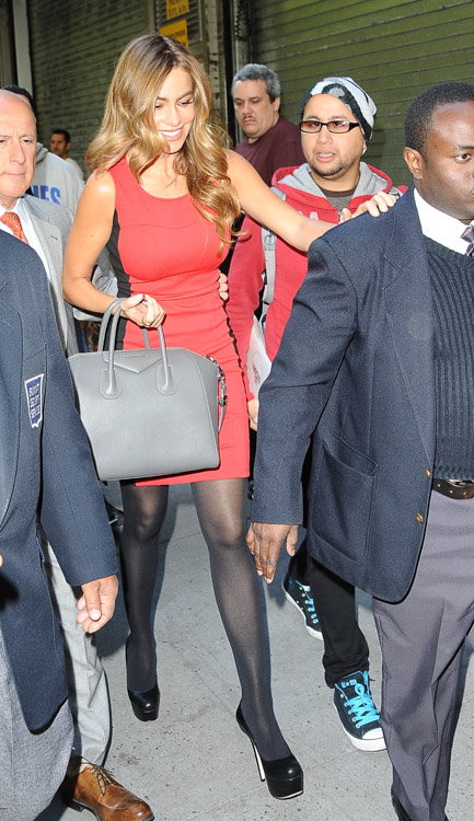 Sofia Vergara carries a grey Givenchy bag in NYC (3)