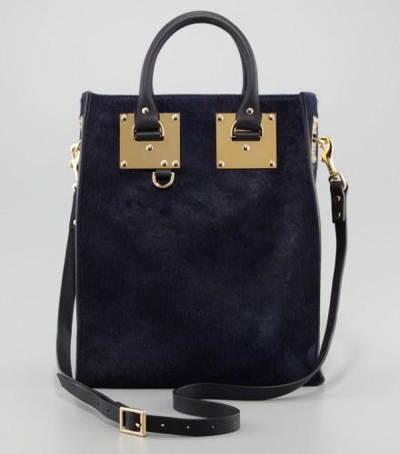 Sophie Hulme Mini Calf Hair Tote Bag
