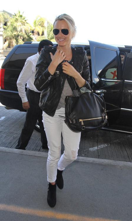 Taylor Schilling carries a black Botkier bag in LA (3)