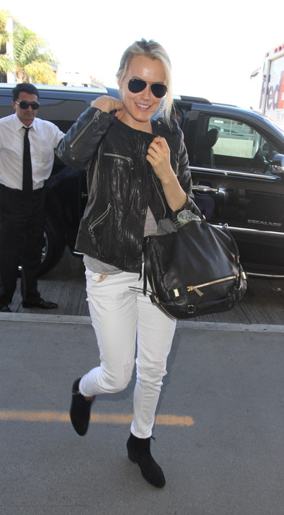 Taylor Schilling carries a black Botkier bag in LA (4)