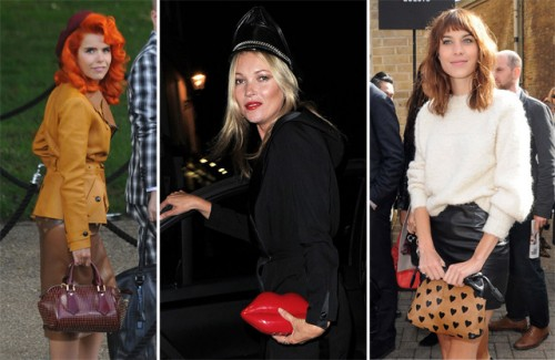 The Many Bags of Celebs at London Fashion Week Spring 2014