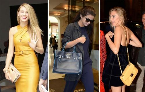 The Many Bags of Celebs at Milan Fashion Week Spring 2014