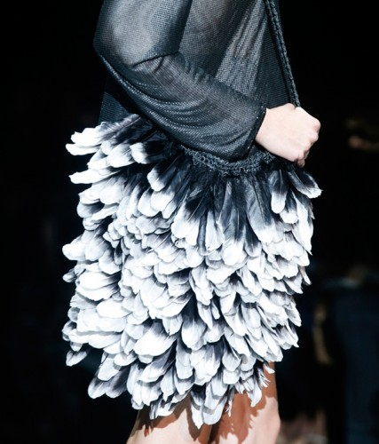 Tom Ford Ombre Feather Bag Spring 2014