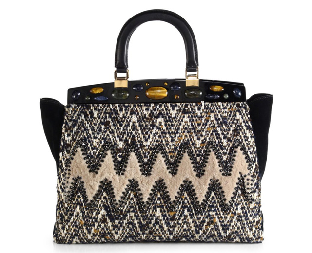 Tory Burch Attersee Chevron Satchel